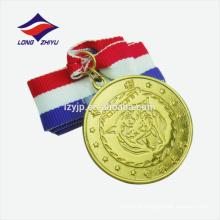 Liga de zinco de ouro antigo em branco medalha de lembrança personalizada