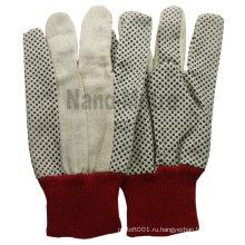 NMSAFETY 10 унций дамы рабочая хлопчатобумажные перчатки горошек перчатки