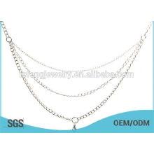 2015 collar de plata largo del locket flotante de la venta caliente