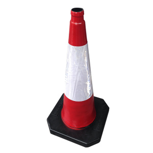 75cm rubber reflective road safety cones