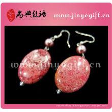 Jóia do ofício de ShangDian Beautiful Gemstone Natural Druzy Dangle Earring