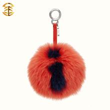Fábrica Forneça diretamente cartaz de tamanho grande Fox fur Pom Poms Bag Charms