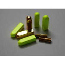 Квадрат / Раунд / пуля металл Золотой наконечник кружева / обычай Yeezy aglet для лямки, шнурка и шнурка