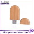 Bambú redondeado esquina de madera a granel USB Flash Drive