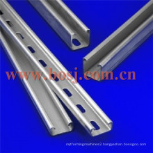 Cold Rolled Perforated C Strut Galvanized Steel Channel Sizes Roll Forming Making Machine USA