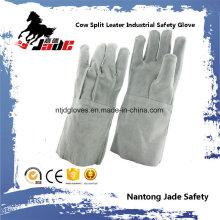 Guante de trabajo de soldadura industrial de cuero auténtico