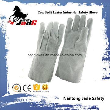 Luva de trabalho de soldagem de segurança industrial de couro genuíno