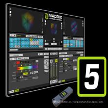 El software más nuevo de Madrix 5 para control de iluminación
