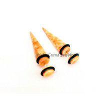 Venta caliente Splash Print acrílico Ear Piercing Jewelry