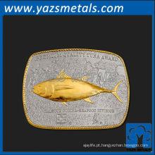 personalize fivela de cinto de metal, fivelas de cinto de prescrição de atum premium de alta qualidade personalizadas