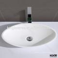 pas cher moderne salle de bains produits solide surface ovale lavabo