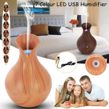 130ml Mini Atomization Ultrasonic Aroma Humidifier LED