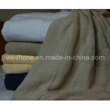 100 % weicher Baumwolle gestrickte Decke