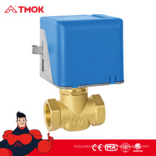 Electric three way stop valve/motor-driven stop valve/Solenoid valve with CW617N brass material high quality in TMOK