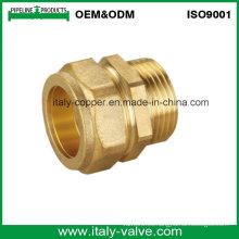 ISO9001 Certified latón forjado compresión final macho hembra (AV7004)