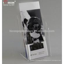 Le fabricant de la Chine offre une publicité gratuite Publicité élégante Brochure acrylique Stand Display Sign Titulaires