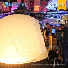 Светодиодные события Party Wedding Decoration Marquee Military Dome Надувной дом настенной палатки
