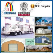 Metal Roof rápido construir Arch hoja laminado en frío que forma la máquina 1250-800