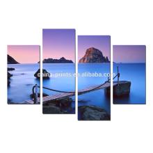 Impresión del cuadro del puente del mar / arte estirado de la lona / arte al por mayor de la decoración casera