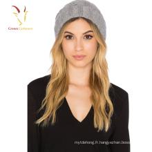 Nouveaux chapeaux de câble de laine tricotés à la main de style pour des filles