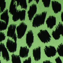 Полиэстер Leopard Spots & Hearts Flocking Fabric
