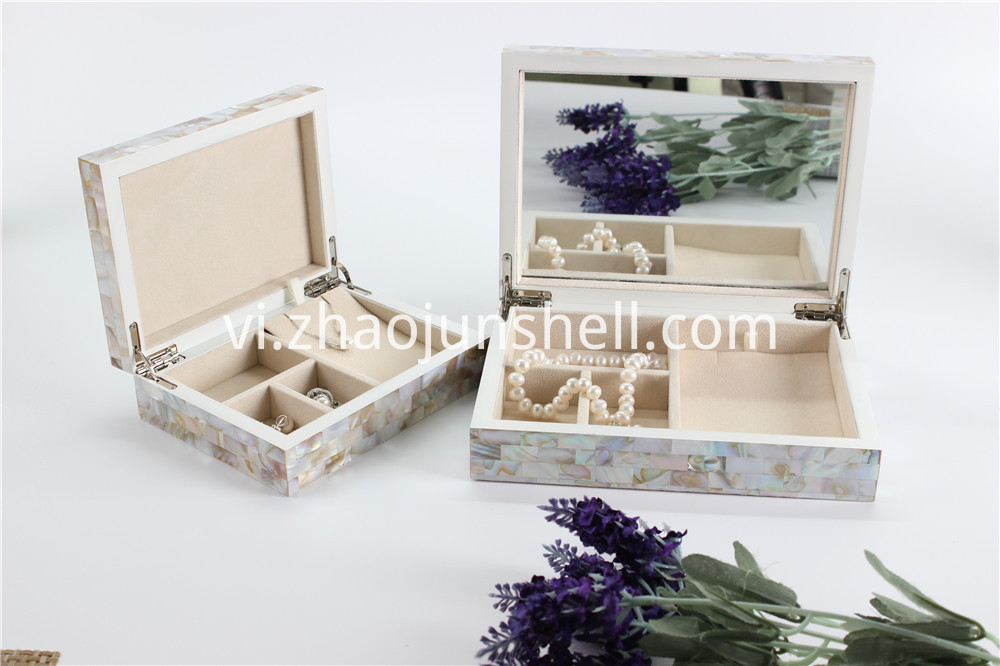Chinese freshwater MOP jewelry box