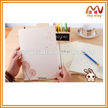 Reine weiße Löwenzahn Schule Notebook, leere Papier Notebook billig bulk