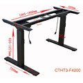 United States Adjustable Table Sit Stand Workstation Cranked Adjustable Height