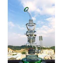 2016 7mm Birdcage Recycler Glass Fumeur d'eau Pipe