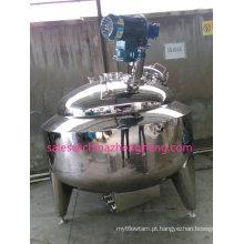 Chaleira misturadora revestida de aço inoxidável com agitador