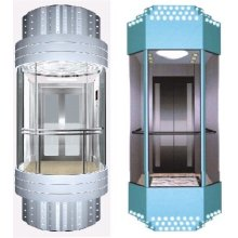 Luxury Sightseeing Elevator With Round Cabin Panoramic Lift