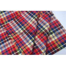 T / C 50/50 Check Style Tissu teint en fil tissé