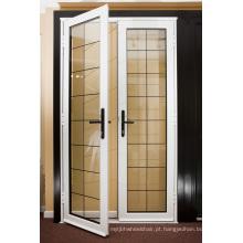 portas de vidro do frame de alumínio do estilo do casement dobro