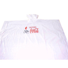 Disposable White Rain Poncho