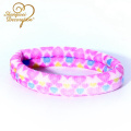 Printed colorful seamless strong soft spandex fabric hair band