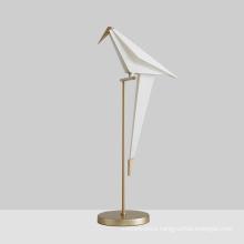 Postmodern Pretty White Parrot Table Light Creative Art Bird Study Bedside Decoration LED Lamp for Coffee Desk