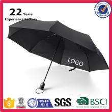 Промо подарок сезонных продуктов компактное 3 кратное Небьющиеся открыть закрыть собственный логотип автоматический зонт