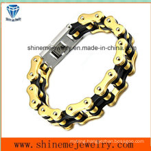 Stainless Steel Bracelet Chain Character Man Double Layer Chain Jewelry (BL2819)
