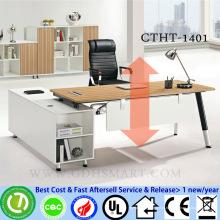 CTHT-1401 altura do parafuso manual altura da mesa ajustável mesa de laptop ajustável para toda a altura