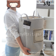 Factory waterproof laundry products foldable gray color customized laundry basket