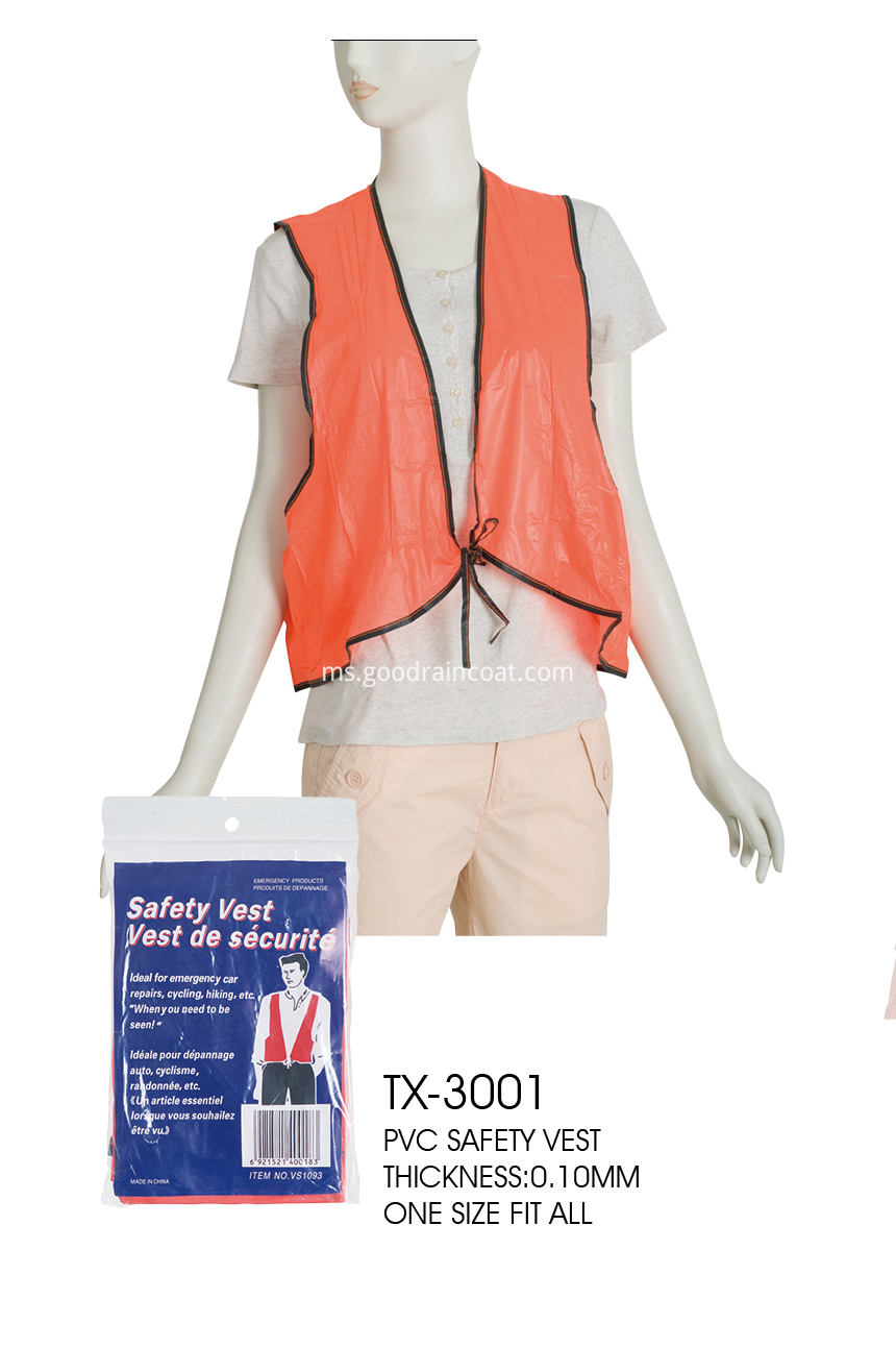 DISPOSABLE SAFETY VEST