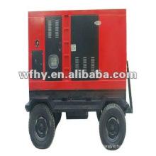 Estación de Generador Diesel Movible y Remolcable a Prueba de Sonido