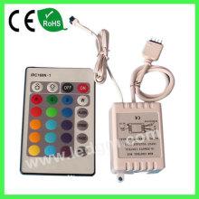 24-chave botão RGB IR remoto controlador