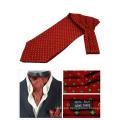 100% Silk Printed Ascot Tie Mens Cravat