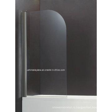 Качается форма Кривой безопасность закаленное стекло экрана ванной (БС-10)