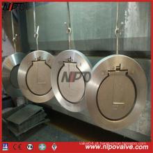 Forjado em aço inoxidável Wafer tipo Single Plate Swing válvula de retenção