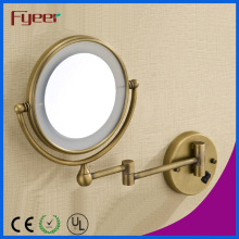 Fyeer Ultra Thin Foldable Antique Color LED Makeup Wall Mirror