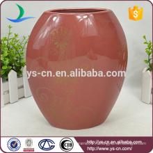 Современная китайская красная фарфоровая ваза оптом