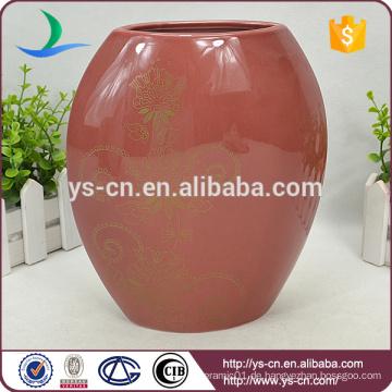 Moderne China Rote Porzellan Vase Großhandel