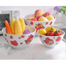 (BC-MB1036) High Quality Reusable Imitation Porcelain Melamine Bowl Set